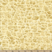 Lavender Bliss Packed Stones Cotton Fabric - Cream