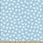 Lazy Daisy Baskets Cotton Fabric - Aqua ADZ-12078-70