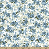 Lazy Daisy Baskets Cotton Fabric - Aqua ADZ-12079-70