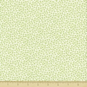 Lazy Daisy Baskets Cotton Fabric - Daisies - Green