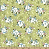 Lazy Daisy Baskets Cotton Fabric - Green ADZ-12076-7