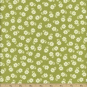Lazy Daisy Baskets Cotton Fabric - Green ASZ-12078-7