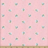 Lazy Daisy Baskets Cotton Fabric - Pink ADZ-12077-10