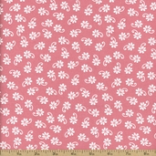 Lazy Daisy Baskets Cotton Fabric - Pink ADZ-12078-10