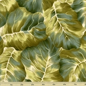 Leaf Candy Cotton Fabric - Moss