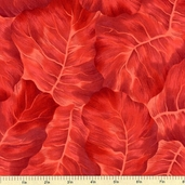 Leaf Candy Cotton Fabric - Red