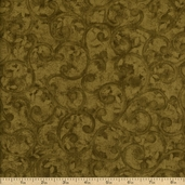 Left Bank Scroll Cotton Fabric - Green
