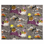 Legend Of Webb Hill Haunted Hill Cotton Fabric - Black