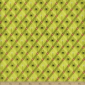 Legend Of Webb Hill Spiders Cotton Fabric - Green