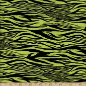 Legend Of Webb Hill Zebra Stripe Cotton Fabric - Green