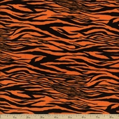 Legend Of Webb Hill Zebra Stripe Cotton Fabric - Orange