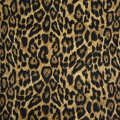 Leopard Large Print Fleece Fabric - Brown