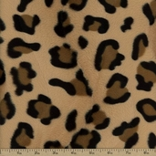 Leopard Skin Fur Polyester Fabric - Tan/Brown SFPJAG-1