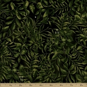 Leopards Jungle Foliage Cotton Fabric - Green 3700-8592-6