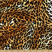Leopards Leopard Print Cotton Fabric - Black 3700-8590-4