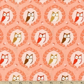Les Amis Sweet Owlies Cotton Fabric - PS5796-PEAC-D