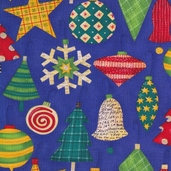 Let it Snow Cotton Fabric - Blue