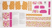 Let's Play Dolls Summer Fun Cotton Fabric Panel