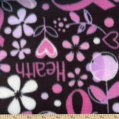 Life Hope and Healing Fleece Fabric - Pink