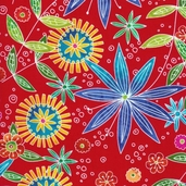Lift Your Spirits Cotton Fabrics - Red
