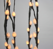 Lighted Pussy Willow Branches - 39 inch - Brown