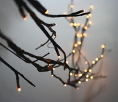 Lighted Willow Garland - 6ft. Brown