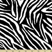 Lily Cotton Fabric - Zebra Stripes - Black and White C6215