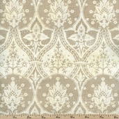 Little Black Dress 2 Medallion Cotton Fabric - Ivory