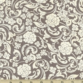 Little Black Dress Drama Mod Cotton Fabric - Ivory