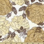 Little Black Dress Roses Corset Cotton Fabric - Natural