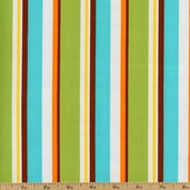 Little One Striped Cotton Fabric - Sunshine