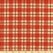 Locomotion Plaid Cotton Fabric - Red 02692-10