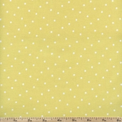 Lola Small Dots Cotton Fabric - Citron