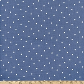 Lola Small Dots Cotton Fabric - Ocean