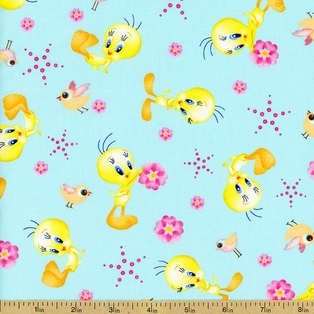 http://ep.yimg.com/ay/yhst-132146841436290/looney-tunes-tossed-tweety-cotton-fabric-aqua-4.jpg