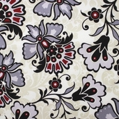 Lost and Found Cotton Fabric - Cream