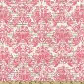 Lost and Found Cotton Fabric - Pink SC2602