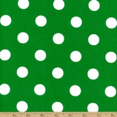 Lots-A-Dots Cotton Fabric - Green 20241-13