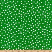 Lots-A-Dots Cotton Fabric - Green 29078-13