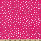 Lots-a-Dots Cotton Fabric - Hot Pink DOTS 29078-04