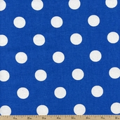 Lots-a-Dots Cotton Fabric - Royal Blue DOTS 20241-05