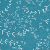Love Birds Cotton Fabric - Blue