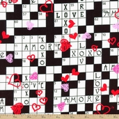 Love Is All Around Games Cotton Fabric