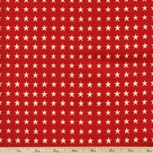 Love, Luck and Liberty Star Cotton Fabric - Red