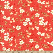 Lovely Cotton Fabric - Red 17572-12