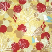 Lovely Orchard Fabric - White