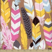 Luckie Fringe Cotton Fabric - Pink