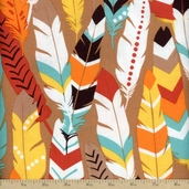 Luckie Fringe Cotton Fabric- Red