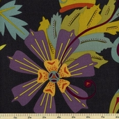 Lucky Penny Cotton Fabric - Large Floral - Multi Color 5893-C