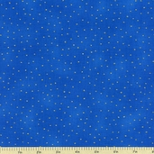 Luxury Blenders Cotton Metallic Fabric - Blue LBLE-381-B